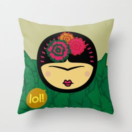 Kahlo-Lolita Throw Pillow