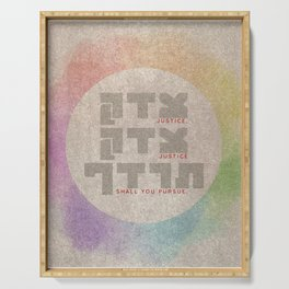 Justice Shall You Pursue - Hebrew Bible Quote Serving Tray