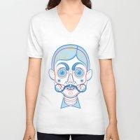 rare V-neck T-shirts featuring A Rare Boy by Ukko