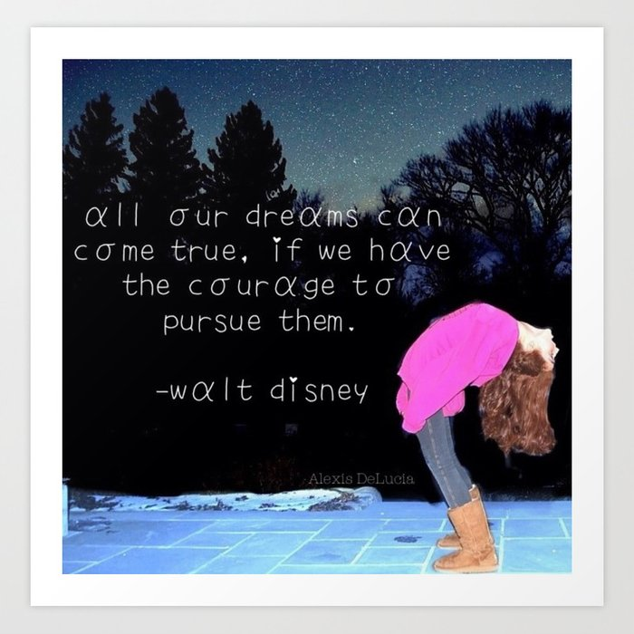 Walt Disney Quote Art Print