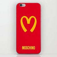 moschino iPhone & iPod Skins featuring Moschino McDonald's Inspired Logo by V.F.Store