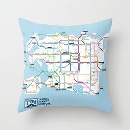 Tamriel Routemap Throw Pillow