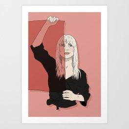 Rose-Colored Girl Art Print