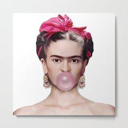 Frida con amigos Metal Print
