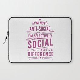 I Am Not Anti Social Laptop Sleeve