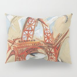 "Robert Delaunay ""Eiffel Tower"" (also known as The Red Tower) Pillow Sham"