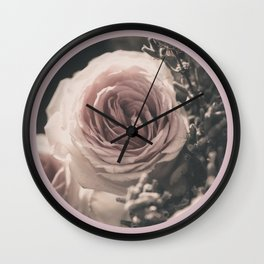 Vintage rose and lavender Wall Clock