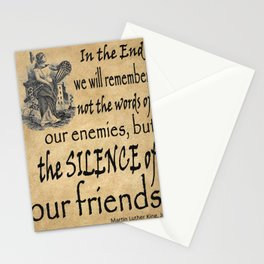 Silence of Our Friends MLKJ quote Stationery Cards