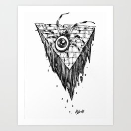 Eye spider Art Print