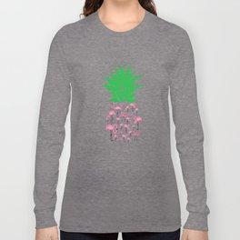 Humorous Plant Genus Fruit Graphic Tee Shirt Gift Funny Flamingo Pineapple Awesome Enzyme Men Women Long Sleeve T-shirt