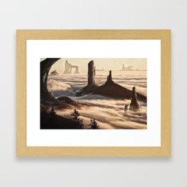 Mountain Citadel Matte Painting Framed Art Print