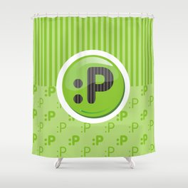 Green Writer's Mood Shower Curtain