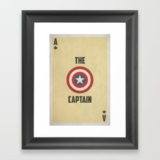 Stacked Deck Series: Ace of Spades Framed Art Print