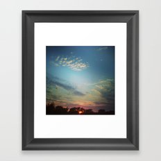 Dark Clouds File in When the Moon is Near Framed Art Print