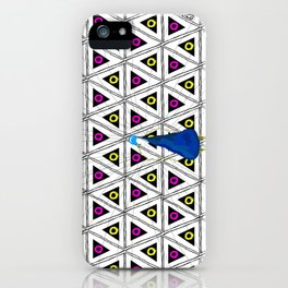 Peacock in pattern iPhone Case