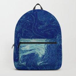 masse ondulée bleue Backpack