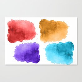 watercolor patch collection Canvas Print