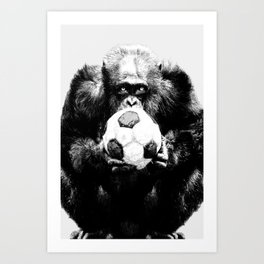 Soccer Chimp Art Print