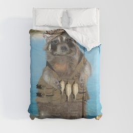 Raccoon Fisherman Comforters