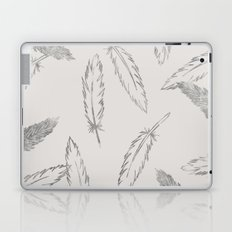 Painted Feathers - in Taupe Laptop & iPad Skin