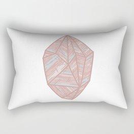Pastel Pink Geometric Gemstone Rectangular Pillow