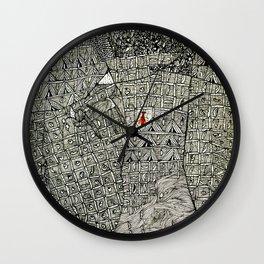 Hic Sunt Dracones (ii) Wall Clock