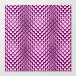 Gleaming Pink Metal Scalloped Scale Pattern Canvas Print