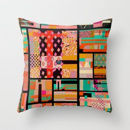 ABSTRACT MONDRIAN Throw Pillow