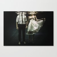 creepy Canvas Prints featuring abyss of the disheartened : IV by Heather Landis