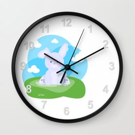 Bunny in country Wall Clock