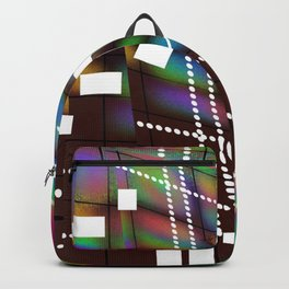 Geometric Color Backpack