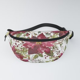 Poinsettia Flowers Fanny Pack