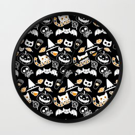 Halloween Cats and Things Wall Clock
