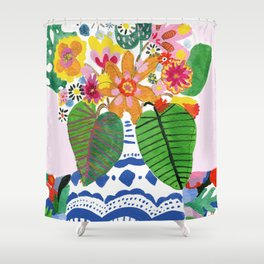 Abstract Flower Bouquet Shower Curtain