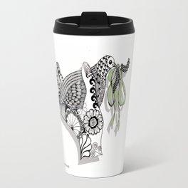 Zentangle Illustration - Peace Dove  Travel Mug