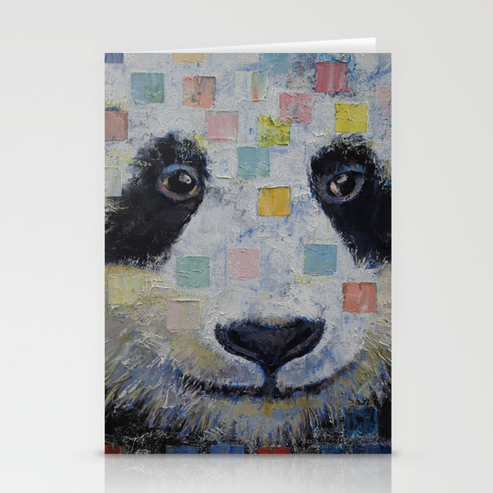 Panda Checkers Stationery Cards