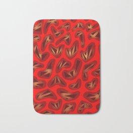 Heartstrings Red Bath Mat