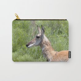 Watercolor Pronghorn Antelope 01, Wyoming, Prairie Princess Carry-All Pouch