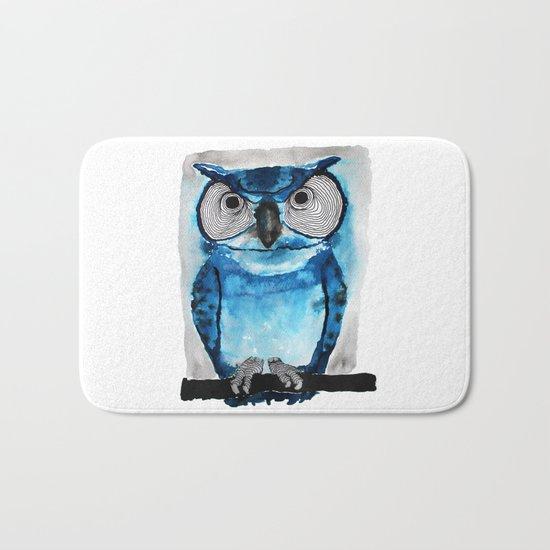 Blue Owl Bath Mat