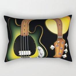Sleeping Bass and Golden Moon Serie: The Stingray Rectangular Pillow