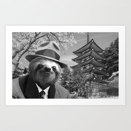 Sloth in Japan Art Print