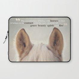 Grace, Beauty, Spirit & Fire Laptop Sleeve