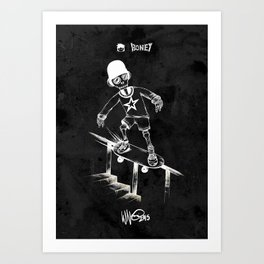 Boney Skateboarding series - 04 Art Print