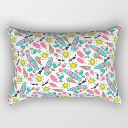 Beach Summer Pattern Rectangular Pillow