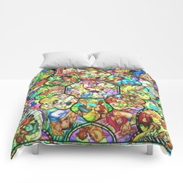 Mickey Mouse and Friends - Stained Glass Window Collage Comforters