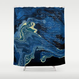 Lapislazuli and Gold #Society6 #decor #buyart Shower Curtain