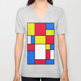 Abstract #402 Unisex V-Neck
