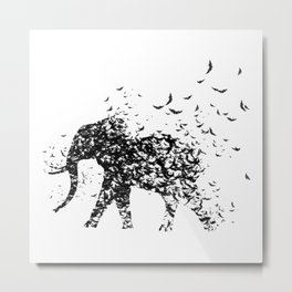 Save the Elephants fading away Metal Print
