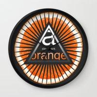 clockwork orange Wall Clocks featuring A Clockwork Orange by filippob