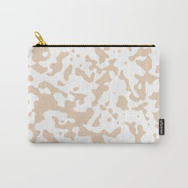Spots - White and Pastel Brown Carry-All Pouch